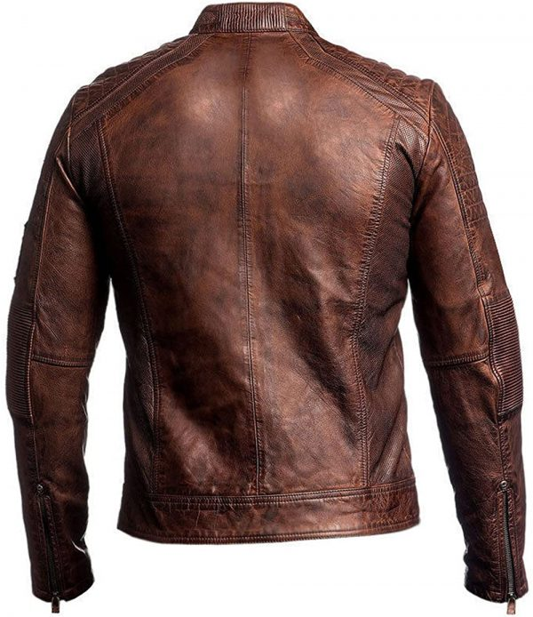 Cafe Racer Leather Jacket for Men