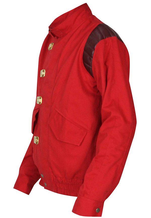 Akira Kaneda Jacket Capsule Logo Red Cotton Jacket Hi5jackets