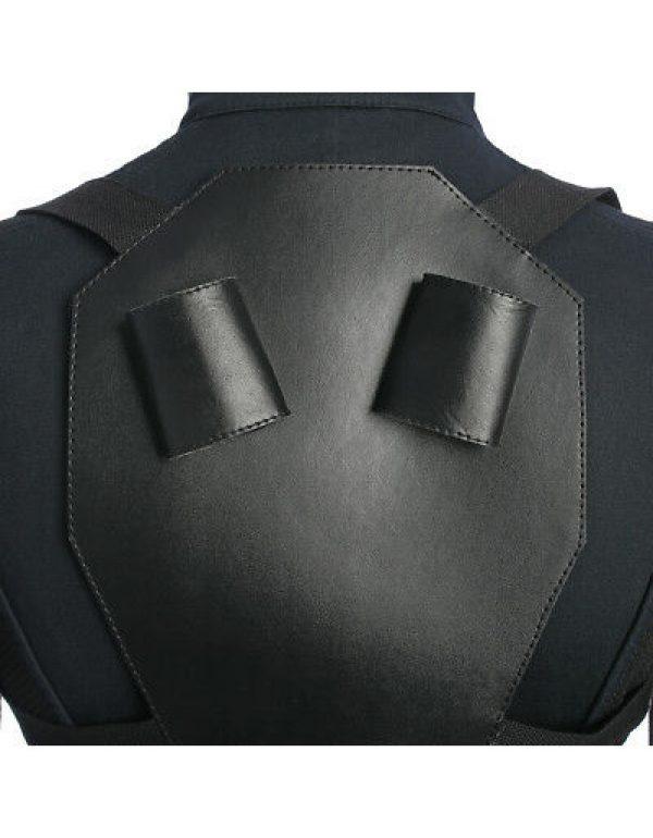 Black Widows vest Jacket Back Side