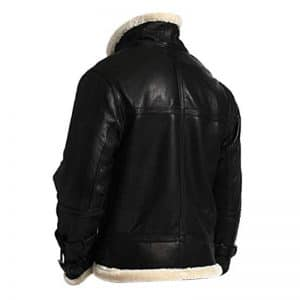 Men's Aviator Pilot Hooded Leather Jacket