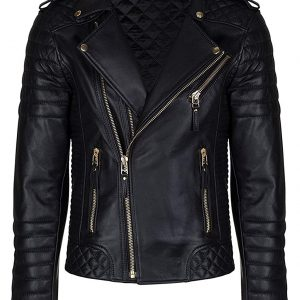 Men's Brando Black Leather Jacket