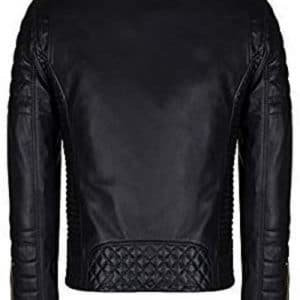 Slim Fit Brando Black Leather Jacket for Men