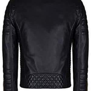 Slim Fit Brando Black Leather Jacket for Men