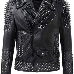 Studded Black Leather Jacket