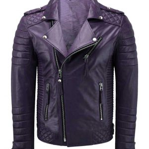 purple leather jacket for men