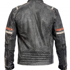 Cafe Racer Black Leather Jacket for Men