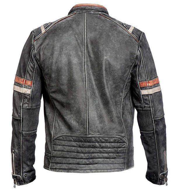 Cafe Racer Black Leather Jacket for Men