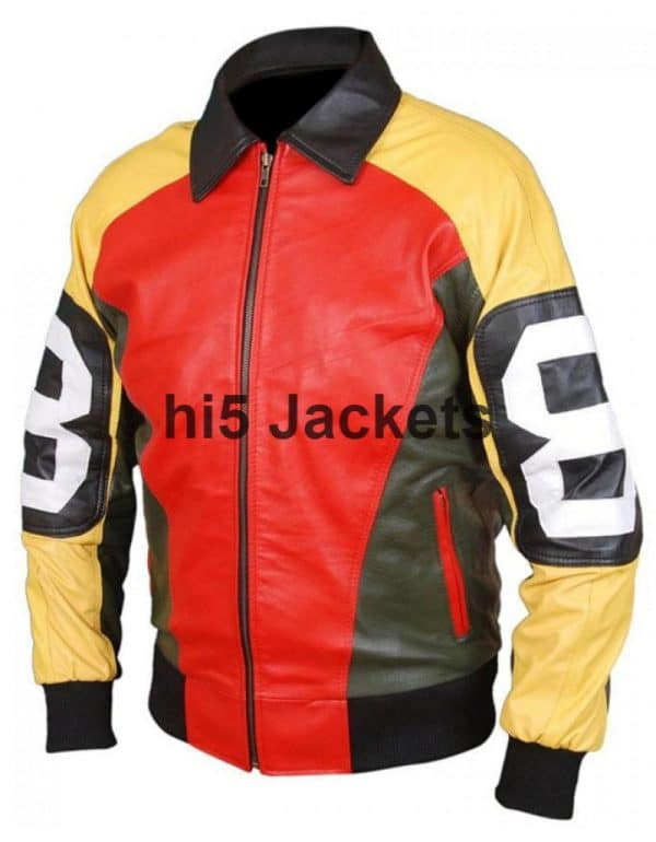 8 Ball Leather Jacket for Men