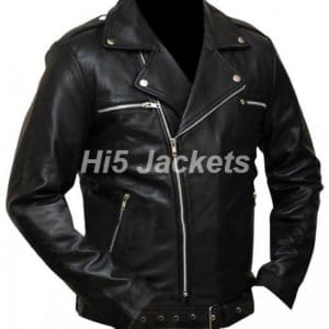 Walking Dead Black Leather Jacket