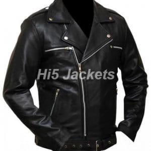 Walking Dead Black Leather Jacket