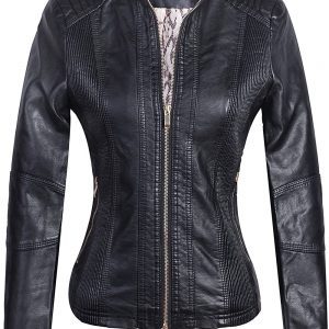 Women's Slim Fit Leather Jacket