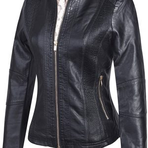 Women's Black Party Leather Jacket