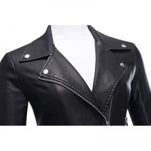 Women's Brando Black Leather Jacket
