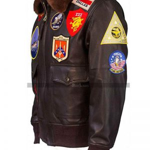 Top Gun Pilot Leather Jacket