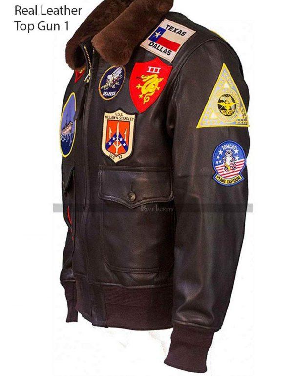 Top Gun Pilot Leather Jacket