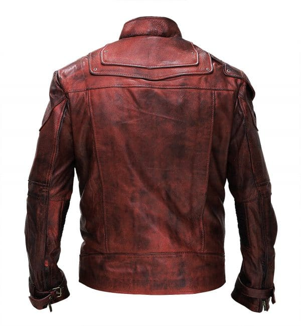 Guardians of Galxy 2 Peter Quill Leather Costume Jacket