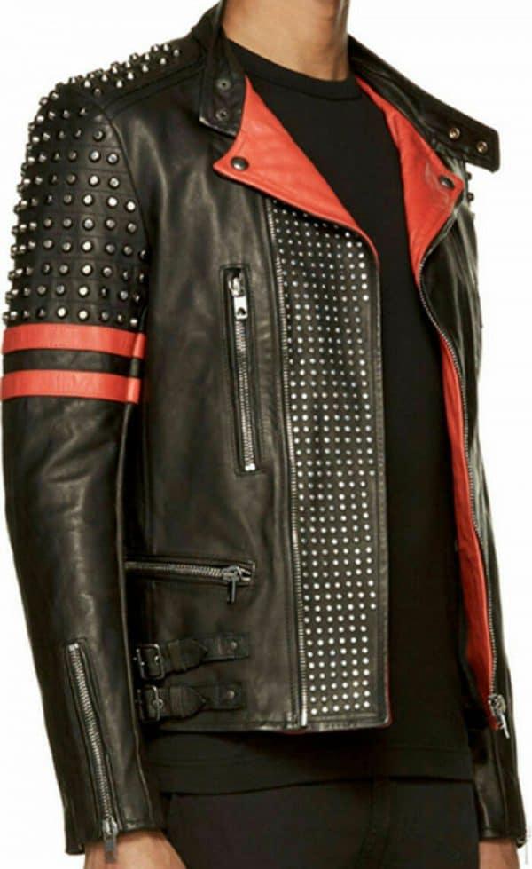 Men's Brando Studded Leather Jacket