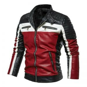 Men's Slim Fit Black Motorcycle Leather Jacket