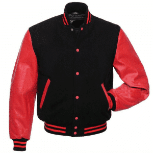 Men's Red Bomber Varsity Wool Jacket