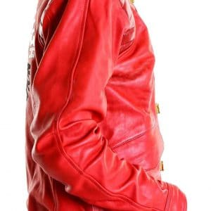 Akira Kanneda Red Leathher Jacket for Men - Sideview