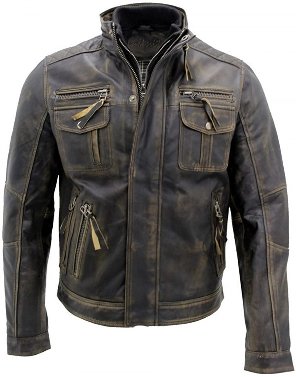 Distressed Leather Jacket