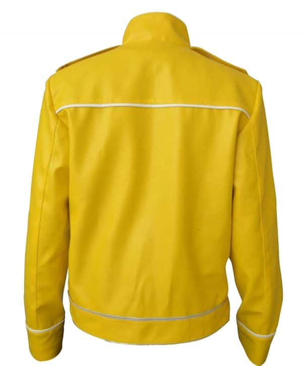 Wembley Concert Yellow Leather Jacket