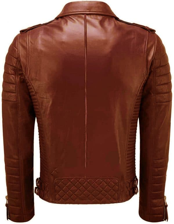 Men's Brando Brown Leather Jacket