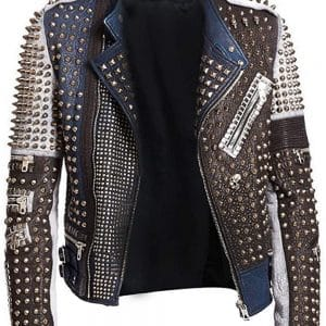 Men's Studded Leather Jacket
