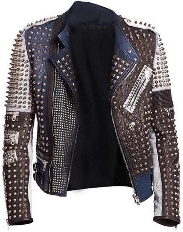 Men's Studded Leather Jacket