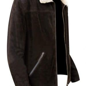 Rick Grimes Suede Leather Jacket