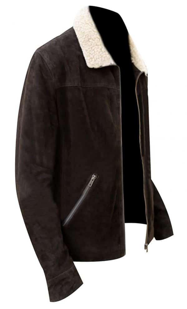 Rick Grimes Suede Leather Jacket