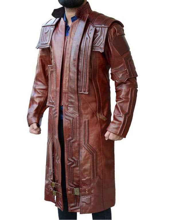 Guardians of Galaxy Starlord leather Coat