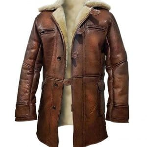 bane faux leather coat